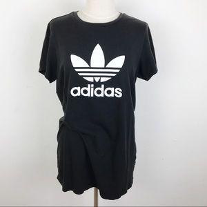 Adidas Black Logo Short Sleeve Oversized Tee Shirt